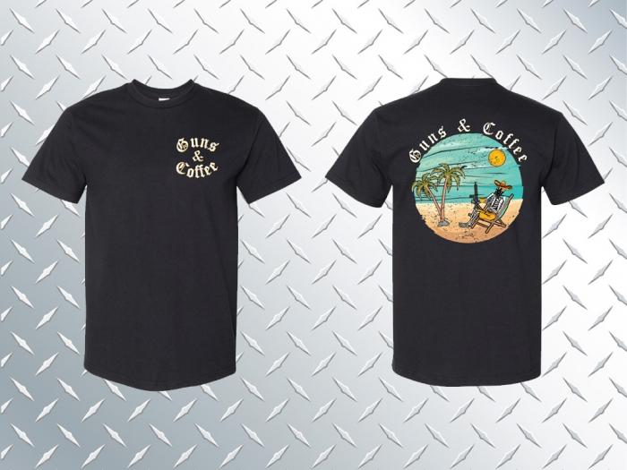 Guns & Coffee T-shirt - Black